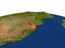 Swazilandia en rojo de la órbita stock de ilustración