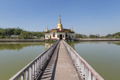 Swe pagoda in Twante, Myanmar Royalty Free Stock Photos