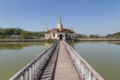 Swe pagoda w Twante, Myanmar Zdjęcia Royalty Free