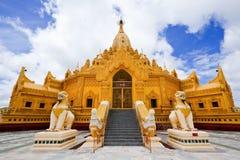 Swe Taw Myat, pagoda de Buddha, Yangon, Myanmar fotografía de archivo
