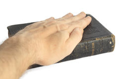Swearing on the bible Stock Images
