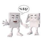 Swearing blockhead characters Stock Photos