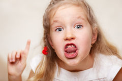 Swearing child Royalty Free Stock Image