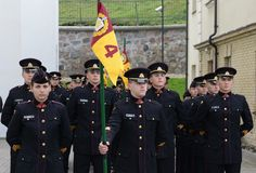 The swearing-in of the Lithuanian military Academy. Royalty Free Stock Photo