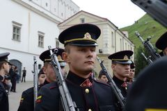 The swearing-in of the Lithuanian military Academy. Royalty Free Stock Images