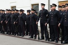 The swearing-in of the Lithuanian military Academy. Stock Images