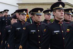 The swearing-in of the Lithuanian military Academy. Royalty Free Stock Photography