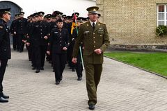 The swearing-in of the Lithuanian military Academy Royalty Free Stock Photo
