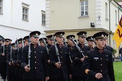 The swearing-in of the Lithuanian military Academy Royalty Free Stock Images