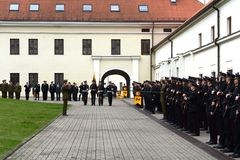 The swearing-in of the Lithuanian military Academy Royalty Free Stock Photography