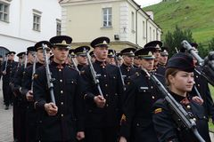 The swearing-in of the Lithuanian military Academy Stock Images