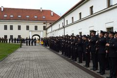 The swearing-in of the Lithuanian military Academy. Stock Photo