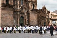 Swearing of the School Police or Juramentacion de la Policia Esc Stock Image