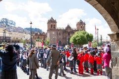 Swearing of the School Police or Juramentacion de la Policia Esc Royalty Free Stock Image