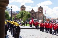 Swearing of the School Police or Juramentacion de la Policia Esc Stock Photos