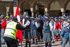 Swearing of the School Police or Juramentacion de la Policia Esc Royalty Free Stock Photography