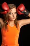 Sweat. Boxer girl Stock Photos