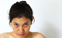 Sweat face after exercise Royalty Free Stock Image