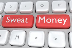 Sweat Money concept Royalty Free Stock Images