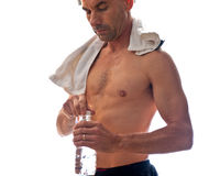 Sweat it out and drink it back Stock Photography