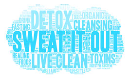 Sweat It Out Word Cloud Royalty Free Stock Photo