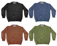 Sweater. Set of four first-quality sweaters of four different colors Stock Photography