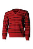 Sweater. This is a beautiful red sweater isolated on a white background Royalty Free Stock Photo