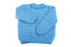 Sweater. Handmade toddler sweater on white background Royalty Free Stock Images