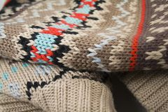 Sweater. Warm coloured  wool sweater close-up Royalty Free Stock Image