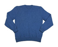 Sweater. There is a blue sweater on the white background Stock Image