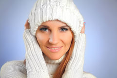 Sweater and cap Stock Images