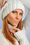 Sweater and cap Stock Photography