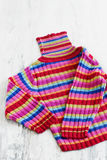 Sweater with colored stripes Stock Photography