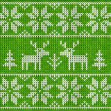 Sweater with deer. Green sweater with deer seamless pattern Royalty Free Stock Photos