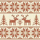 Sweater with deer. Coffee and milk colors sweater with deer seamless pattern Stock Photography