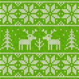 Sweater with deer. Green sweater with deer seamless pattern Royalty Free Stock Photography