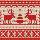 Sweater with deer, seamless pattern Stock Photos