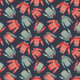 Sweater dotted pattern Stock Images