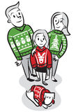 Sweater Family Stock Image