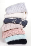 Sweater handmade. Knitted goods. Royalty Free Stock Photography