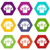 Sweater icons set 9 vector Royalty Free Illustration
