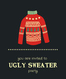 Sweater invitation Stock Image