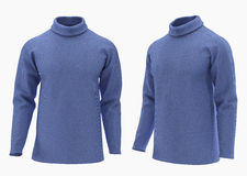 Sweater isolated on white with clipping path. Royalty Free Stock Photo