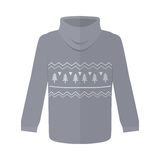 Sweater or Jumper with Fir Tree Icons Isolated. On white. Winter warm handmade sweater with throat, knitted jumper. Sweater icon. Unisex women men sweater in Stock Photos
