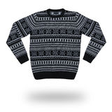 Sweater for men with christmas pattern isolated Royalty Free Stock Photos