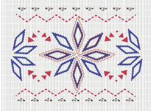 Sweater pattern. Snowflake knitted nice sweater pattern Stock Images
