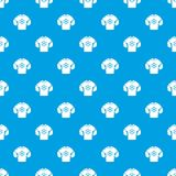 Sweater pattern vector seamless blue stock illustration