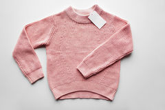 Sweater or pullover with price tag Stock Image