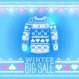 Sweater. Sale Winter Illustration. May be used for winter design. Cards, posters and many other Stock Photo