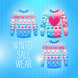 Sweater. Sale Winter Illustration. May be used for winter design Royalty Free Stock Photography